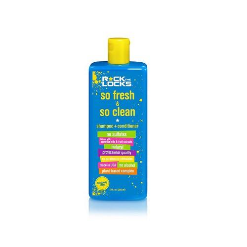 Foto Produk Rock The Locks Shampoo So Fresh & So Clean + Conditioner Blue Blast dari Mothercare Official Shop