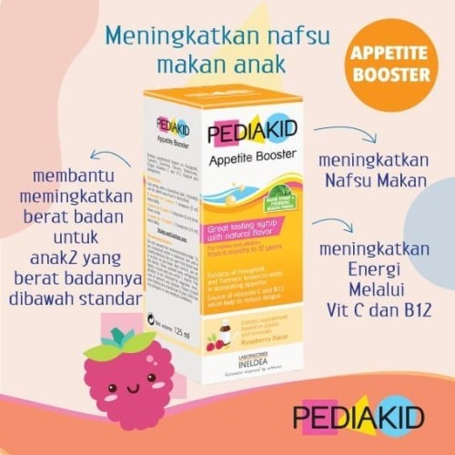 Foto Produk pediakid appetite booster vitamin penambah nafsu makan anak Pediakid - Appetite dari happylucky