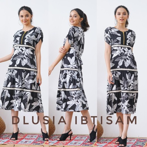 Foto Produk daster arab/india/dubai/turki dlusia tunik ibtisam dress busui midi dari murmershops & fashion
