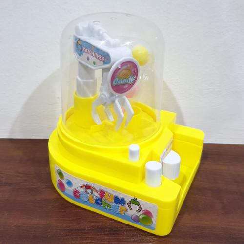 Foto Produk MB210 Mainan Anak Pengangkut Bola Mini Candy Crane Ball Game Machine - Kuning dari Mmtoys Indonesia