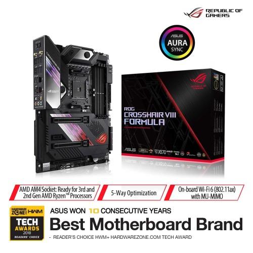Foto Produk ASUS ROG Crosshair VIII Formula AMD AM4 X570 Gaming Motherboard dari Asus Component
