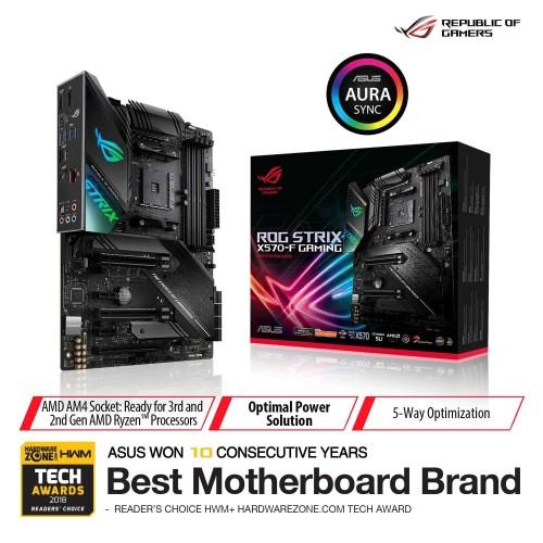 Foto Produk ASUS ROG Strix X570-F Gaming AMD AM4 X570 ATX Gaming Motherboard dari Asus Component
