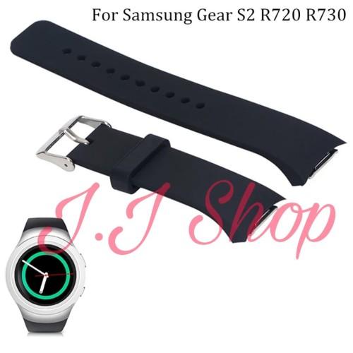 Foto Produk Strap Band Sport Watch Silikon Samsung Gear S2 Sport SM R720 Tali Jam - Hitam dari Logam Mulia Termurah