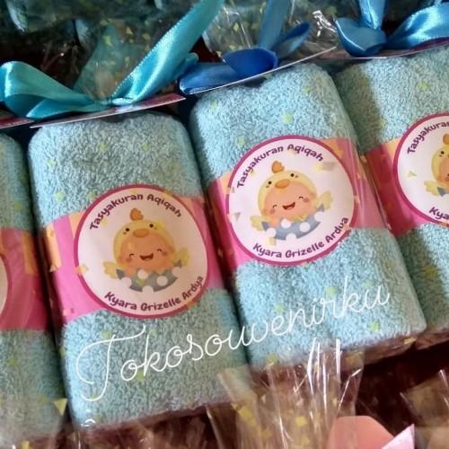 Foto Produk Souvenir Aqiqah, Souvenir Ultah Hand Towel 30x30cm Handuk Tangan dari tokosouvenirku
