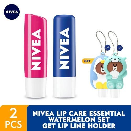 Foto Produk NIVEA Lip Care Essential Watermelon Set GET Lip LINE Holder dari NIVEA Official