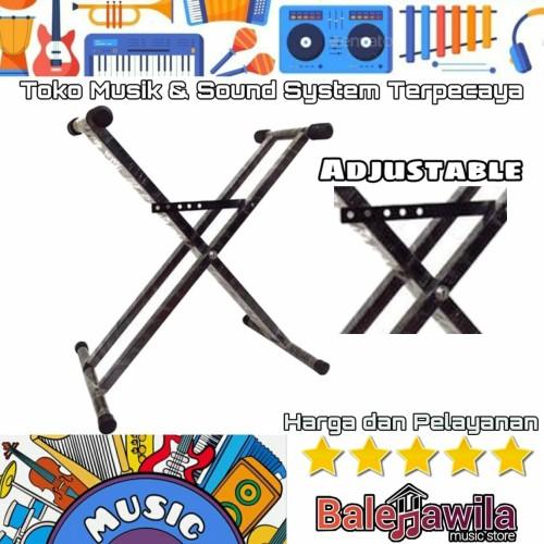 Foto Produk Stand Double Keyboard Stand Keyboard Double Kaki Kokoh Kaki Piano dari TIPTOP MUSIK&SOUNDSYSTEM