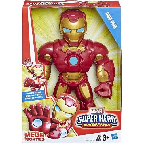 Foto Produk Marvel Super Hero Adventures IRON MAN Mega Mighties Playskool Heroes dari Charu Toys