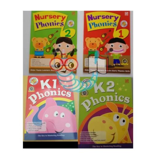Foto Produk Bright Kids Nursery Phonics 1 & 2 - K1 Phonics dari Little Bookworm