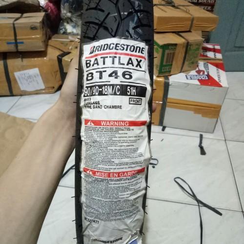 Foto Produk BAN LUAR BATTLAX BRIDGESTONE BT 46 UK 90 /90-18 dari HXL Motor Sports