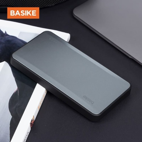 Foto Produk PowerBank BASIKE 8000mAh Power Bank Dual USB Fast Charging Real PB101 - PB101 Silver dari Basike Official Store