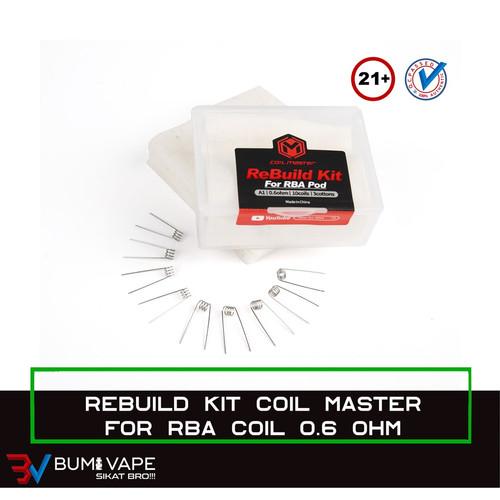 Foto Produk RBK for RBA 0.6 & 0.8 Ohm - ReBuild Kit Original by Coil Master - 0.6 dari bumivape