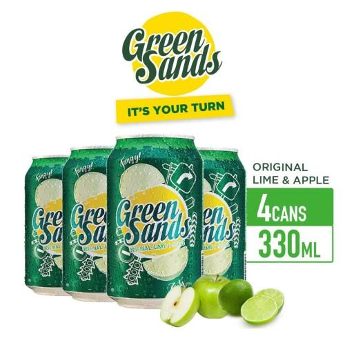 Foto Produk Green Sands Lime & Apple Soft Drink 330ml Can Multipack 4 dari Drink Corner Bekasi