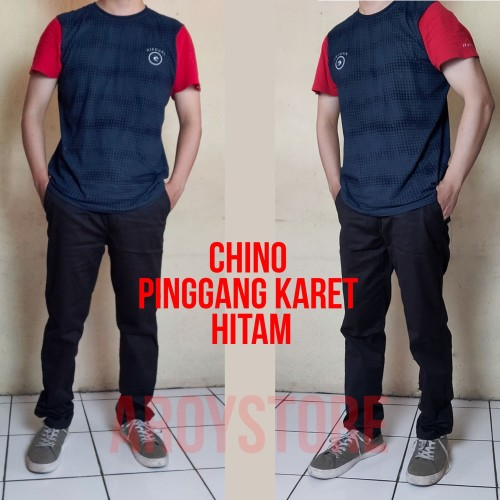Foto Produk Celana Panjang Chino - Hitam, XS dari aroystore