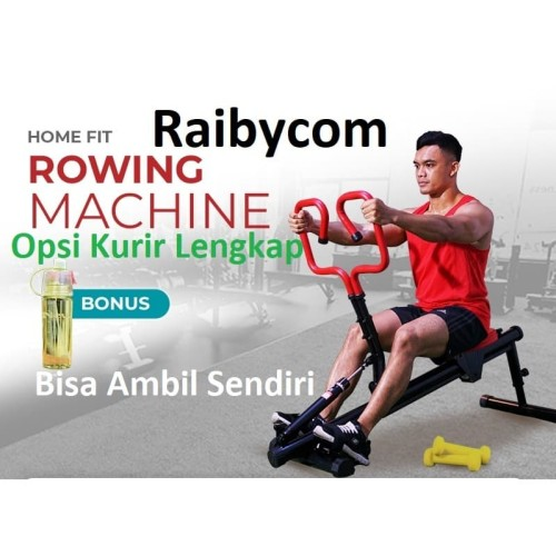 Foto Produk HOME FIT Rowing Machine Lejel Beban Dayung Latih Hit Power Squat Squad dari Raibycom