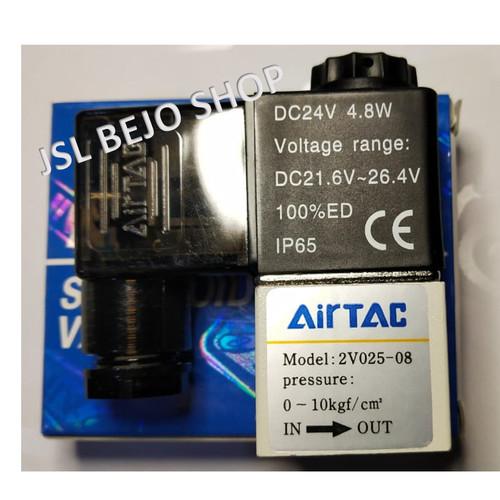 """Foto Produk Solenoid valve Electric Pneumatic 1/4"""" DC 12V - VOLTAGE 24VDC dari TOKO TEHNIK PINTAR"""