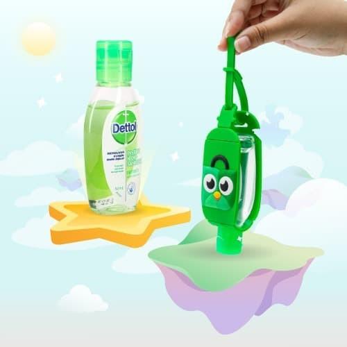 Foto Produk [Tokopedia x Dettol] Toped Sanitizer Holder + Dettol Original 50ml dari Tokopedia Merchandise