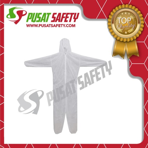 Foto Produk Baju Coverall Safety Disposable Suit / Baju APD Safety - Putih, XL dari Pusat Safety Online