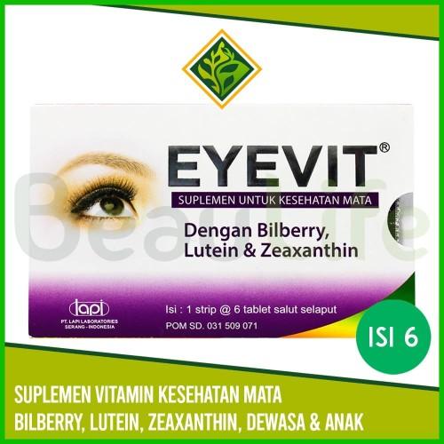 Foto Produk ✅EYEVIT 6 Tablet - Suplemen Vitamin Gizi Kesehatan Mata Semua Umur dari BeauLife