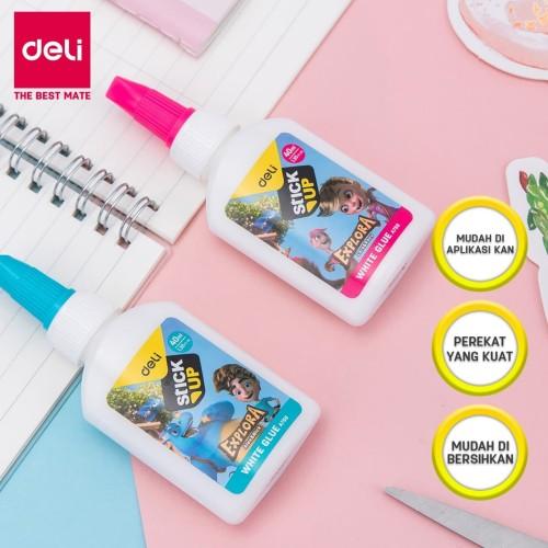 Foto Produk Deli EA75000 Explora White Glue 40ml / Lem Cair Putih 40 ml dari Deli Stationery