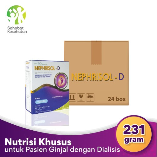 Foto Produk Bundle 24 Box Nephrisol D - Nutrisi Tinggi Protein Pasien Gagal Ginjal dari Sahabat Kesehatan