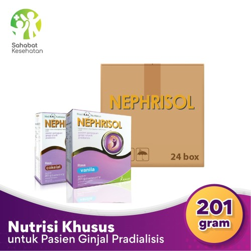 Foto Produk Bundle 24 Box Nephrisol - Nutrisi Rendah Protein Pasien Gagal Ginjal - Vanila dari Sahabat Kesehatan