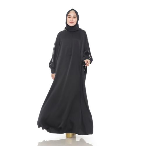 Foto Produk AZQILA GAMIS   Dress Wanita   Long Dress   All Size - Hitam dari Alarafashion