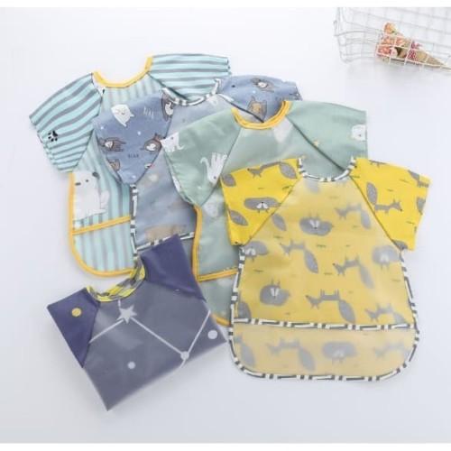 Foto Produk Celemek Baju Anak | Bib Slabber Waterproof - BintangPink dari bobo baby shop