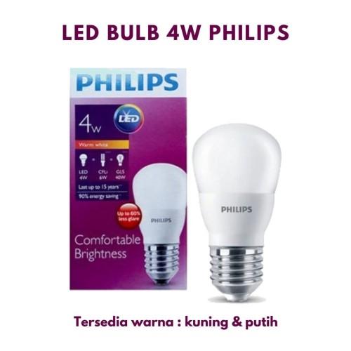 Foto Produk Lampu Philips LED Bulb 4W APR E27 LAMPU BOHLAM - Putih dari borongaja
