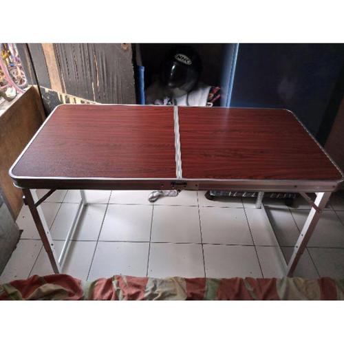 Foto Produk Meja Lipat Bentuk Koper (Portable) Cocok utk Jualan dan Pameran - MAROON dari Minisweet_olshop