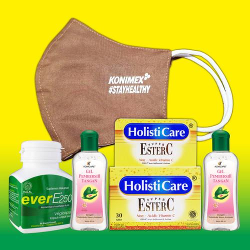 Foto Produk Paket Holisticare Ester C + Ever E + Konicare Gel Pembersih Tangan dari Konimex Store
