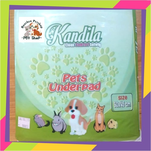 Foto Produk Kandila Underpad Alas Kandang Pipis 60x45cm Isi 20 Pcs Pets Underpad dari Brother Petshop