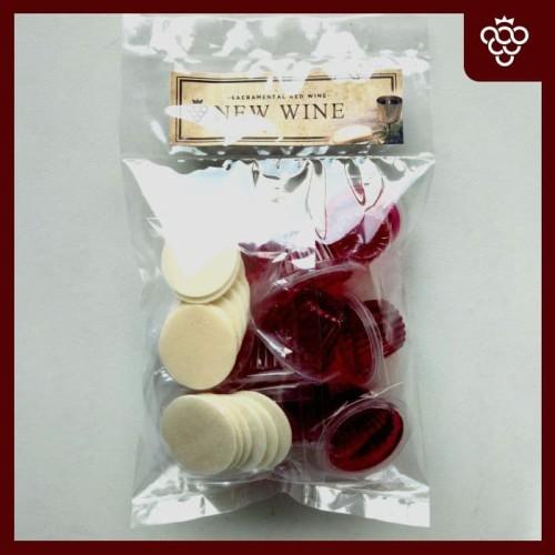 Foto Produk Anggur Perjamuan New Wine Cup+Hosti isi 10 dari Visi Christian Store