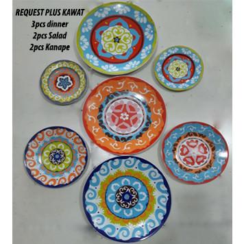 Foto Produk REQUEST Motif Nador 7pcs Plus Kawat | Ekspor Murah dari GALAXY HouseholdCeramics