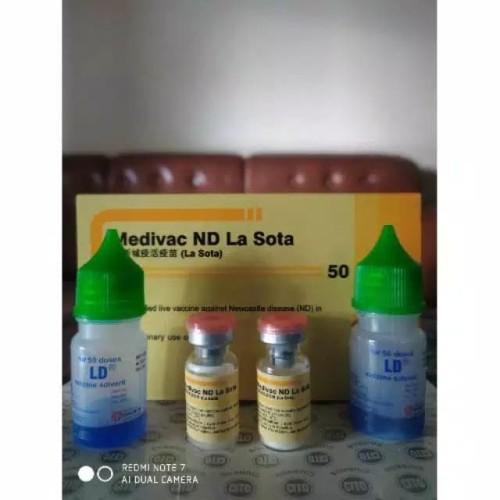 Foto Produk Vaksin Medivac ND Lasota 50 Vaksin Lnjtan untuk ayam kecil dewasa indu dari ryo hermanto