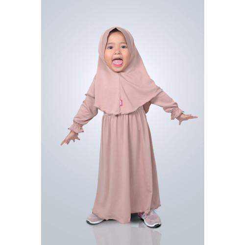 Foto Produk HAURA BUSANA Baju gamis Anak perempuan Syari Mocca - S dari HAURA BUSANA