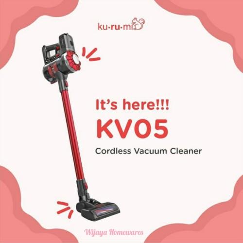 Foto Produk Kurumi KV-05 Rose Gold Cordless Stick Vacuum Cleaner / Kv05 Rosegold - Merah dari Wijaya Homewares