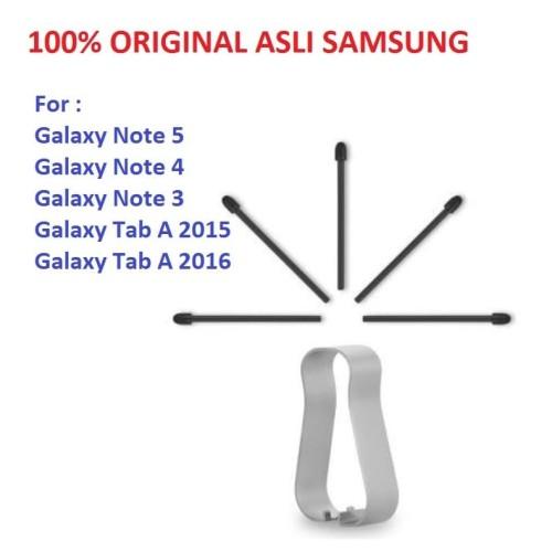 Foto Produk Refill Tip Nib UjungMata Stylus S Pen Galaxy Note 5 4 3 Tab A 2015/16 - Hitam dari Pasti Original Asli