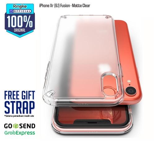 Foto Produk Ringke iPhone Xr Fusion Matte Clear Softcase Anti Crack Military Tough dari Official Ringke Partner