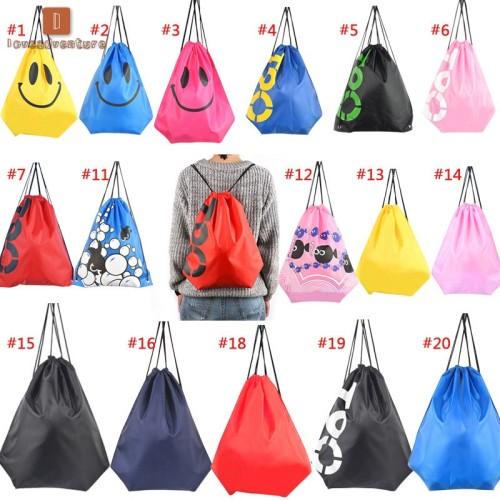 Foto Produk LV New Fashion Women Men Smile Face /Cartoon Fish Print Backpack dari Upagoy