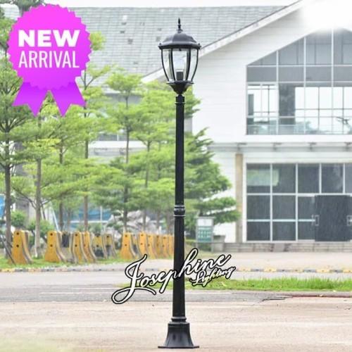 Jual Lampu Taman Tiang Outdoor Cabang 1 Seri 02 1 57 Meter Hitam Kota Surabaya Holic Surabaya Tokopedia