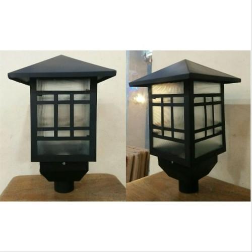 Jual Lampu Taman Tiang Kepala Lampu Taman Minimalis Lampu Taman Jepang Jakarta Timur Paket Kilat Partner Tokopedia