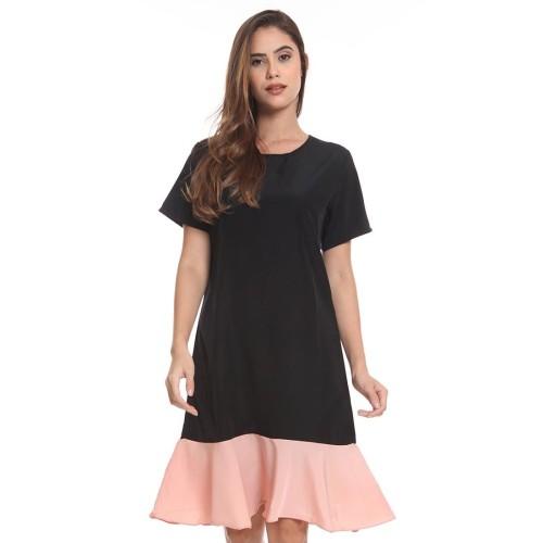 Foto Produk Louise Dress Black-Pink dari Basix