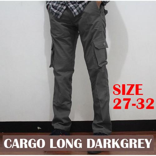 Foto Produk Celana Panjang Cargo Pinggang Karet - Abu-abu, 27 dari aroystore