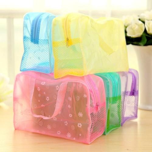 Foto Produk Dompet Tas kosmetik Anti Air Bahan PVC Cosmetic Organizer Travel Bag dari serba grosir murah