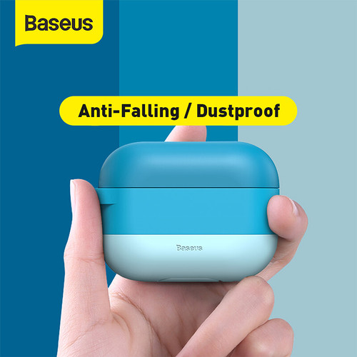 Foto Produk BASEUS COLORFUL CLOUD HOOK SILICA GEL CASE FOR AIRPODS PRO - Biru dari Baseus Official Store