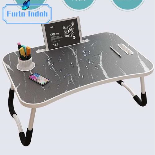 Foto Produk meja lipat laptop meja belajar IMPORT - granit hitam dari Furla Indah