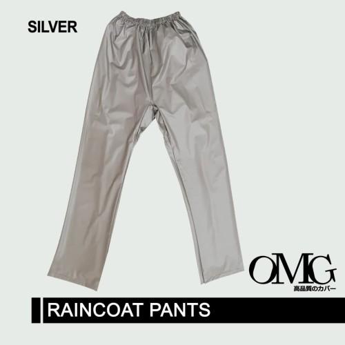 Foto Produk CELANA Jas Hujan OMG Kualitas Bagus Tebal Trendy - Silver dari GrosirOtomotif