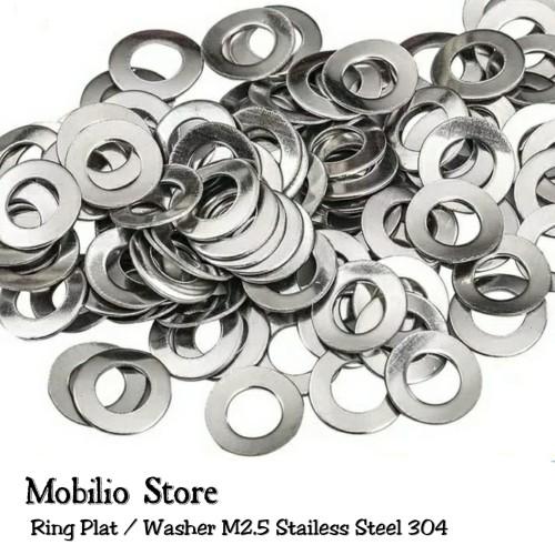 Foto Produk Ring Plat M2.5 Stainless Steel 304 Washer dari Mobilio Store