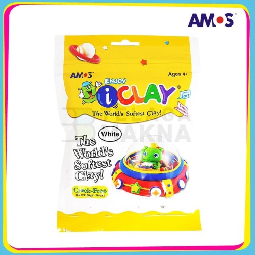 Foto Produk Mainan Anak AMOS I-Clay Putih 50 gram dari TelagaMakna