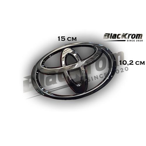 Foto Produk Logo Emblem Black Chrome Depan Toyota Calya dari BlacKrom